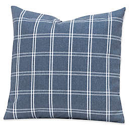 SIscovers® Tartan Denim Square Throw Pillow