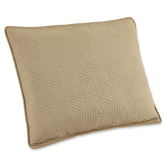 Alternate image 1 for Brielle Honeycomb King Pillow Sham in White/Linen (Set of 2)