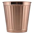 Metal Wastebasket in Rose Gold