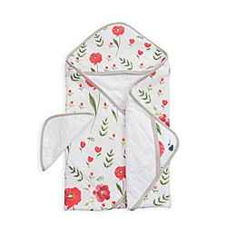 Little Unicorn™ Cotton Hooded Towel and Washcloth Set in Summer Poppy