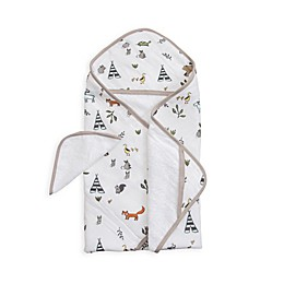 Little Unicorn™ Cotton Hooded Towel and Washcloth Set in Forest Friends