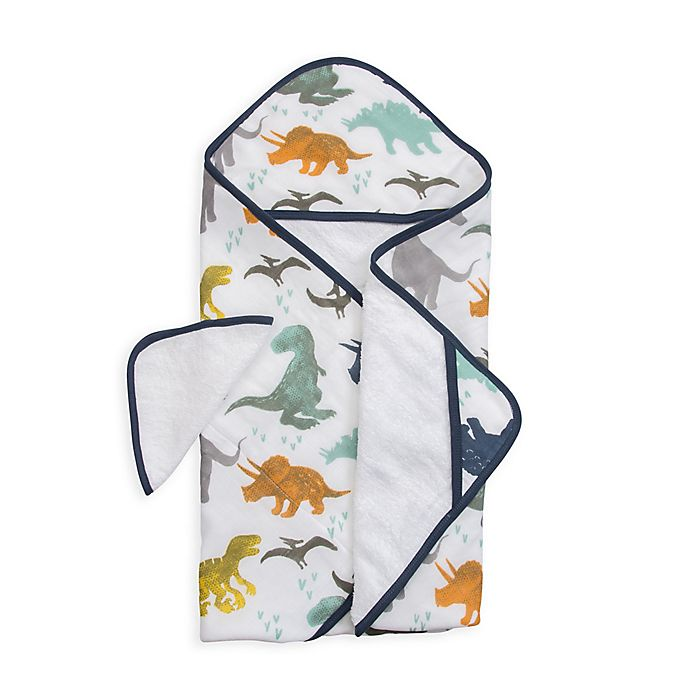 Alternate image 1 for Little Unicorn™ Cotton Hooded Towel and Washcloth Set in Dino Friends