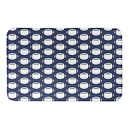 Designs Direct 34-Inch x 21-Inch Football Pattern Bath Mat in Blue
