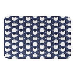 Designs Direct 34-Inch x 21-Inch Football Pattern Bath Mat in Blue