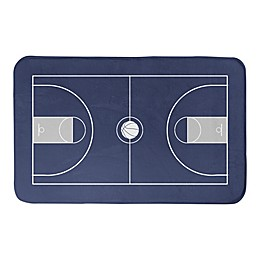 Designs Direct 34-Inch x 21-Inch Basketball Court Bath Mat in Blue