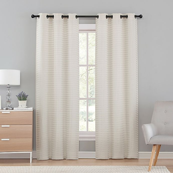 590183f9a1d8 VCNY Home Marcus Pleated Grommet Top Window Curtain Panel Pair | Bed ...