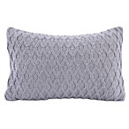 Berkshire Blanket® Diamond Knit Oblong Throw Pillow in Dove Grey