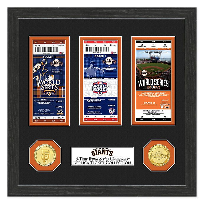 Alternate image 1 for MLB San Francisco Giants World Series Bronze Coin & Ticket Collection Photo Mint