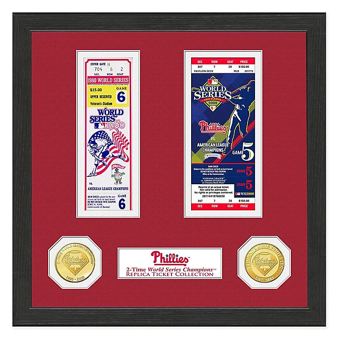 Alternate image 1 for MLB Philadelphia Phillies World Series Bronze Coin & Ticket Collection Photo Mint