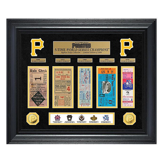eb10e3fa3 MLB Pittsburgh Pirates World Series Deluxe Gold Coin   Ticket Collection  Photo Mint