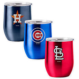 MLB 16 oz. Stainless Steel Curved Ultra Tumbler Wine Glass Collection