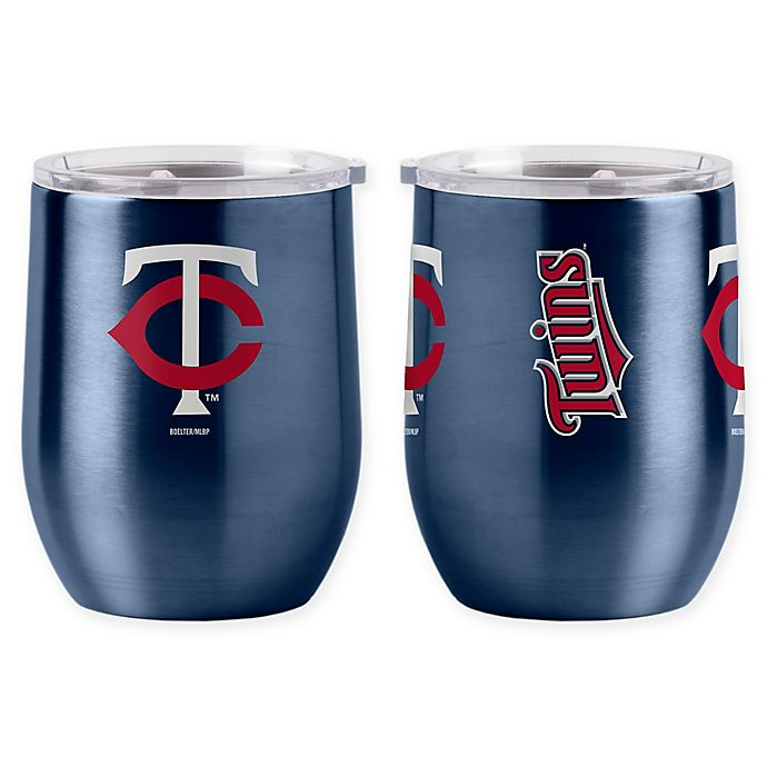 Alternate image 1 for MLB Minnesota Twins 16 oz. Stainless Steel Curved Ultra Tumbler Wine Glass