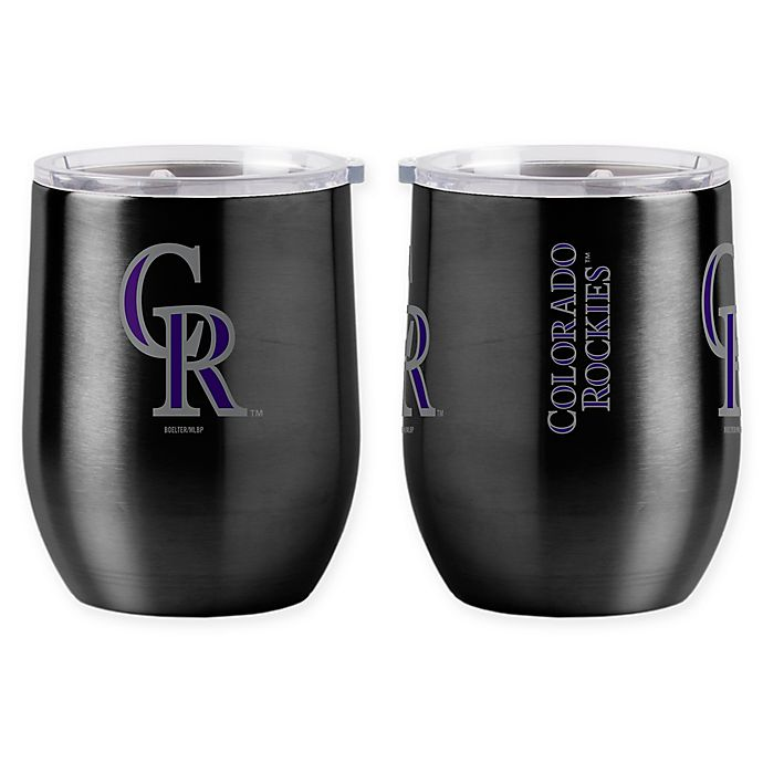 Alternate image 1 for MLB Colorado Rockies 16 oz. Stainless Steel Curved Ultra Tumbler Wine Glass