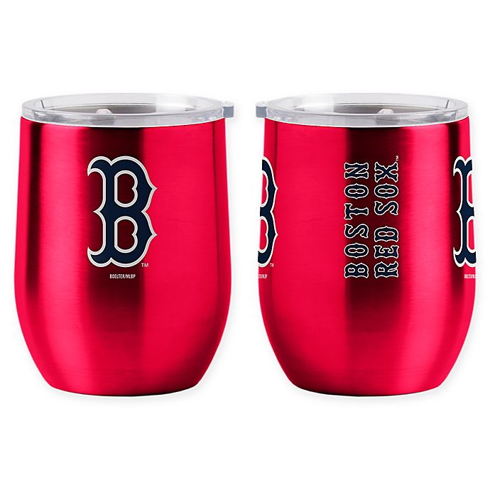 Alternate image 1 for MLB Boston Red Sox 16 oz. Stainless Steel Curved Ultra Tumbler Wine Glass