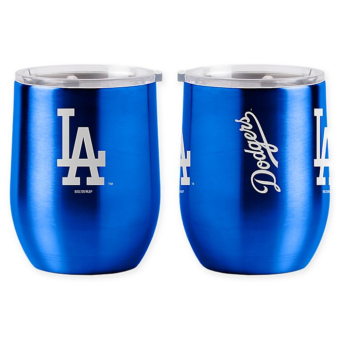 Alternate image 1 for MLB Los Angeles Dodgers 16 oz. Stainless Steel Curved Ultra Tumbler Wine Glass