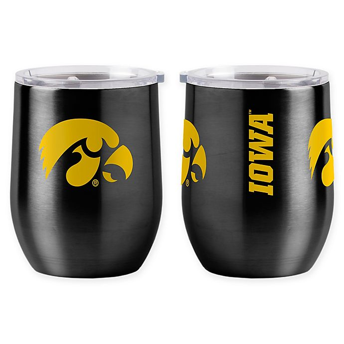 Alternate image 1 for University of Iowa 16 oz. Curved Ultra Tumbler