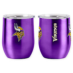 NFL Minnesota Vikings 16 oz. Stainless Steel Curved Ultra Tumbler Wine Glass