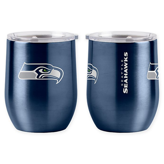 Alternate image 1 for NFL Seattle Seahawks 16 oz. Stainless Steel Curved Ultra Tumbler Wine Glass