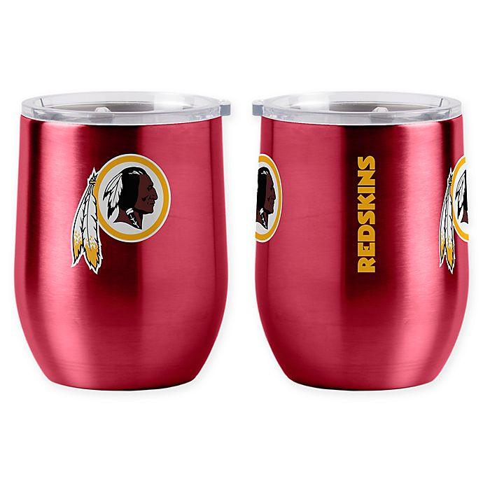 Alternate image 1 for NFL Washington Redskins 16 oz. Stainless Steel Curved Ultra Tumbler Wine Glass
