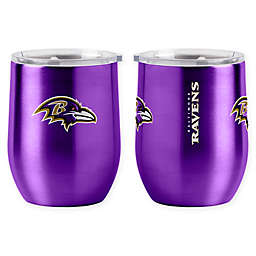 NFL Baltimore Ravens 16 oz. Stainless Steel Curved Ultra Tumbler Wine Glass