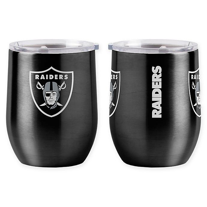 Alternate image 1 for NFL Oakland Raiders 16 oz. Stainless Steel Curved Ultra Tumbler Wine Glass