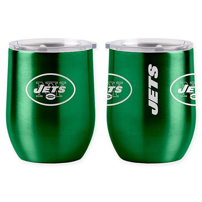 Alternate image 1 for NFL New York Jets 16 oz. Stainless Steel Curved Ultra Tumbler Wine Glass