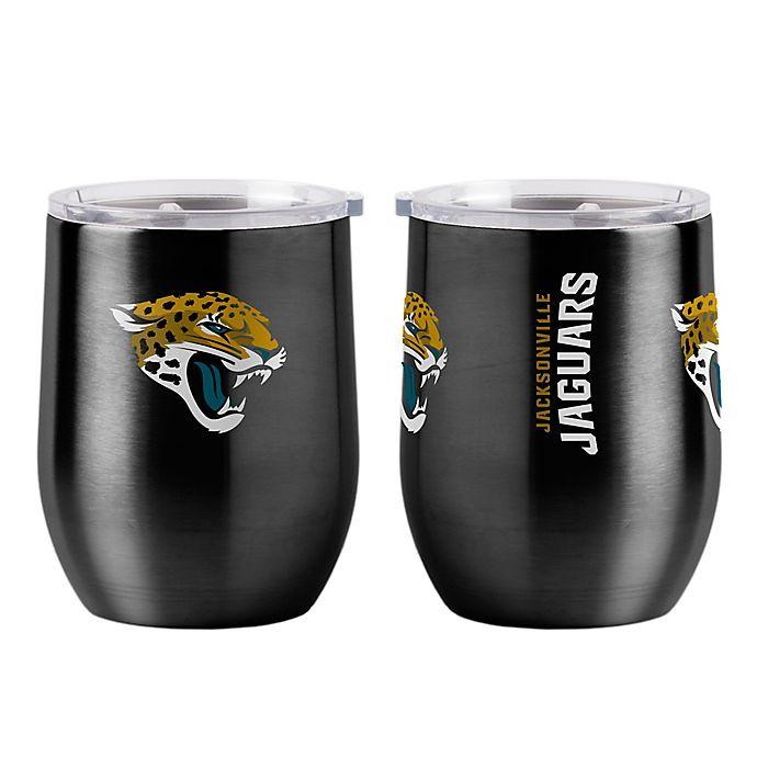 Alternate image 1 for NFL Jacksonville Jaguars 16 oz. Stainless Steel Curved Ultra Tumbler Wine Glass