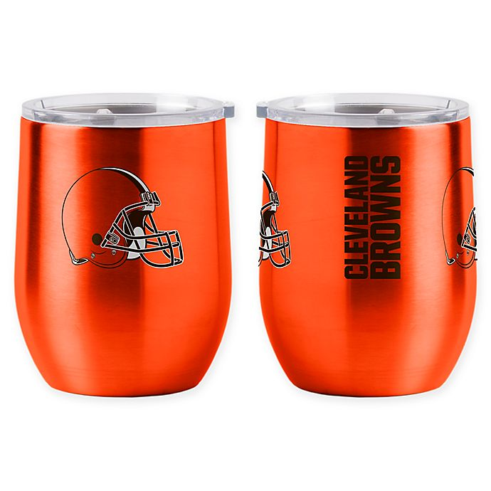 Alternate image 1 for NFL Cleveland Browns 16 oz. Stainless Steel Curved Ultra Tumbler Wine Glass