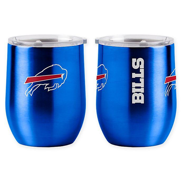 Alternate image 1 for NFL Buffalo Bills 16 oz. Stainless Steel Curved Ultra Tumbler Wine Glass