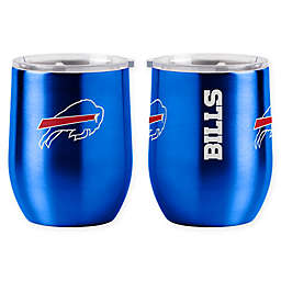NFL Buffalo Bills 16 oz. Stainless Steel Curved Ultra Tumbler Wine Glass