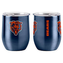 NFL Chicago Bears 16 oz. Stainless Steel Curved Ultra Tumbler Wine Glass
