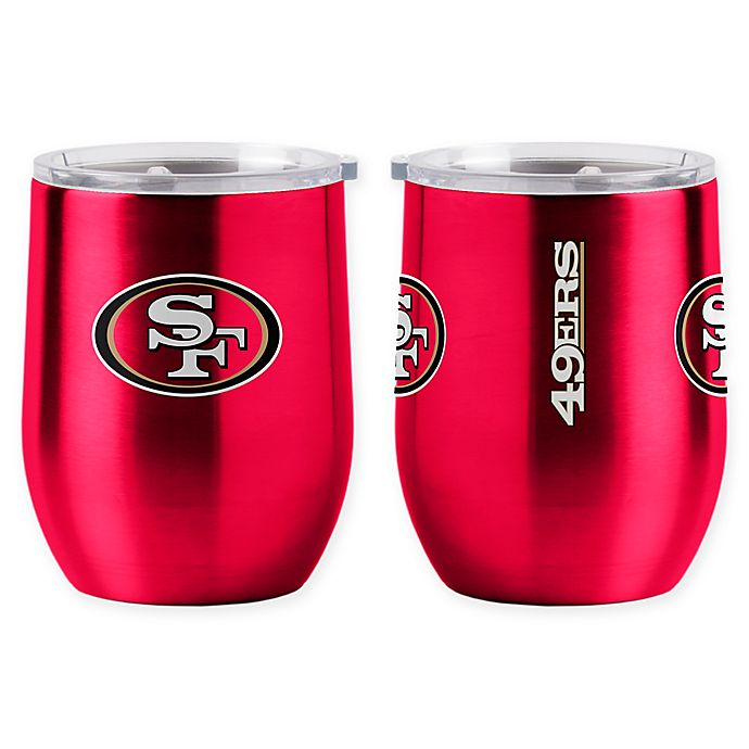 Alternate image 1 for NFL San Francisco 49ers 16 oz. Stainless Steel Curved Ultra Tumbler Wine Glass