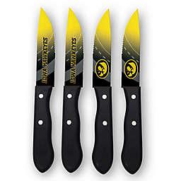 University of Iowa 4-Piece Stainless Steel Steak Knife Set