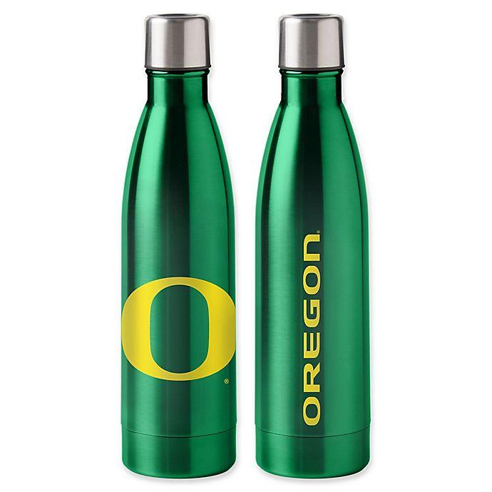 Alternate image 1 for University of Oregon 18 oz. Stainless Steel Water Bottle
