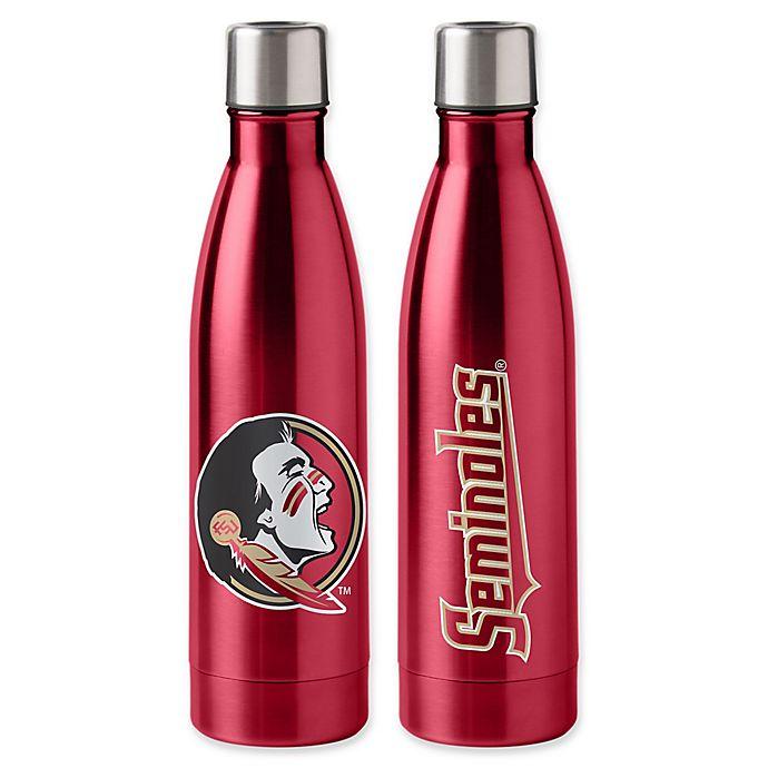 Alternate image 1 for Florida State University 18 oz. Stainless Steel Water Bottle