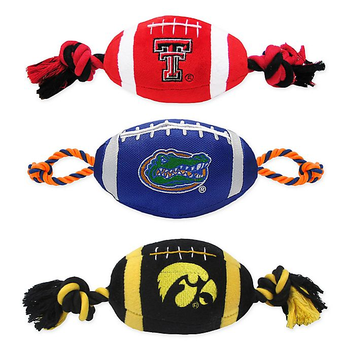 Alternate image 1 for Collegiate Nylon Football Pet Rope Toy Collection