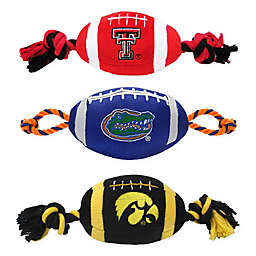 Collegiate Nylon Football Pet Rope Toy Collection