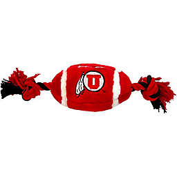 University of Utah Nylon Football Pet Rope Toy