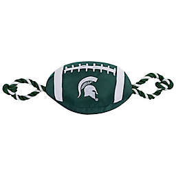 Michigan State University Nylon Football Pet Rope Toy