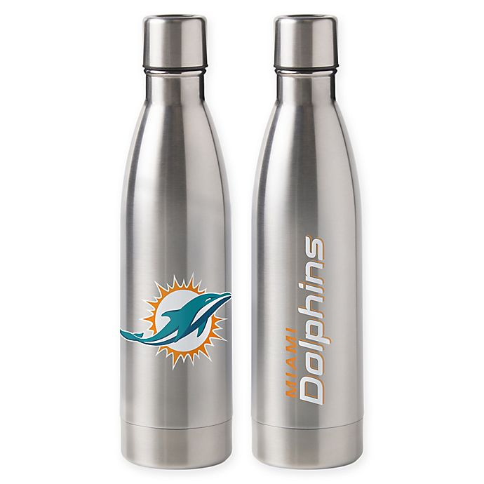 Alternate image 1 for NFL Miami Dolphins 18 oz. Stainless Steel Water Bottle