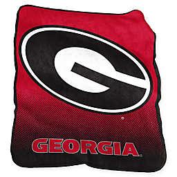 University of Georgia Raschel Throw Blanket