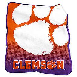 Clemson University Raschel Throw Blanket
