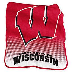 University of Wisconsin Raschel Throw Blanket