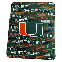 University of Miami Classic Fleece Throw