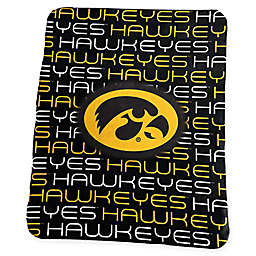 University of Iowa Classic Fleece Throw