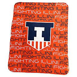 University of Illinois Classic Fleece Throw