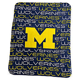 University of Michigan Classic Fleece Throw