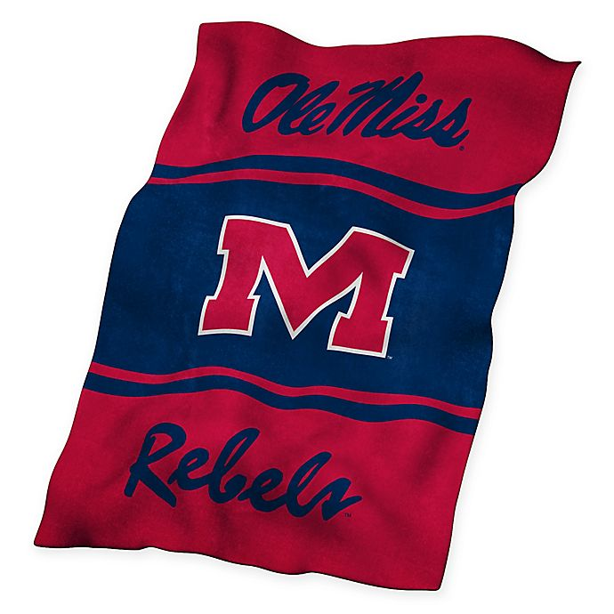 Alternate image 1 for University of Mississippi UltraSoft Blanket