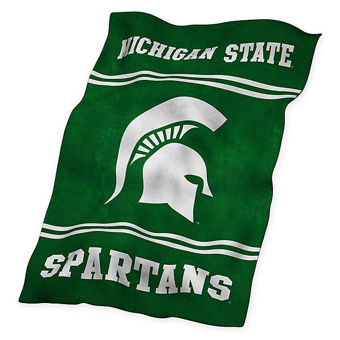 Alternate image 1 for Michigan State University UltraSoft Blanket