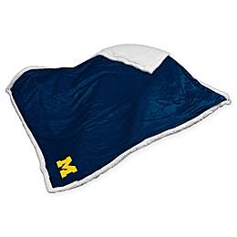 University of Michigan Sherpa Throw Blanket
